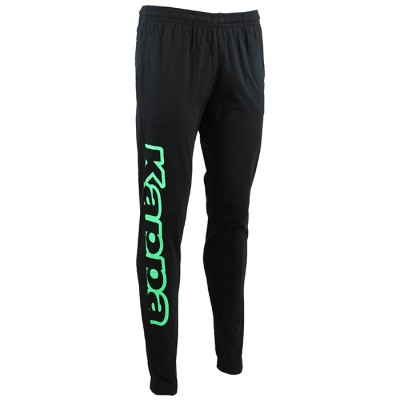 CESTO PANTS - BLACK /FLUO GREEN