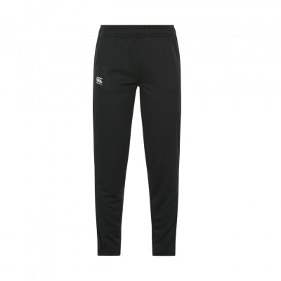 TAPERED POLY KNIT PANT  - JET BLACK