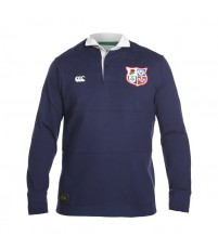 BIL PANELLED RUGBY - FADED NAVY