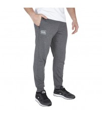 TAPERED FLEECE PANT - CHARCOAL MARL