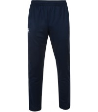 STRETCH TAPERED POLY KNIT PANT - NAVY