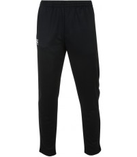 STRETCH TAPERED POLY KNIT PANT - BLACK