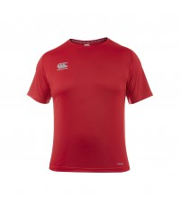 CORE VAPODRI SUPERLIGHT POLY SMALL LOGO TEE - FLAG RED