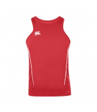 TEAM DRY SINGLET - FLAG RED/WHITE