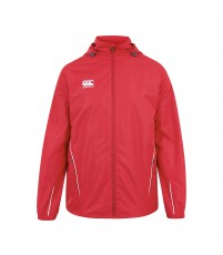 TEAM FULL ZIP RAIN JKT - FLAG RED/WHITE