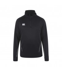 TEAM 1/4 ZIP MID LAYER TRAINING TOP - BLACK/WHITE