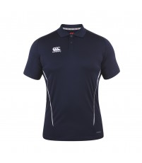 TEAM DRY POLO JR - NAVY/WHITE