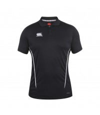 TEAM DRY POLO JR - BLACK/WHITE