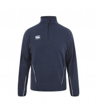 TEAM 1/4 ZIP MICRO FLEECE JR - NAVY/WHITE