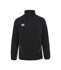TEAM 1/4 ZIP MICRO FLEECE JR - BLACK/WHITE