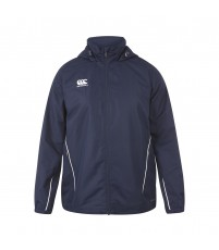 TEAM FULL ZIP RAIN JKT JR - NAVY/WHITE