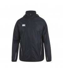 TEAM FULL ZIP RAIN JKT JR - BLACK/WHITE