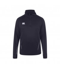 TEAM 1/4 ZIP MID LAYER TRAINING TOP JR - NAVY/WHITE